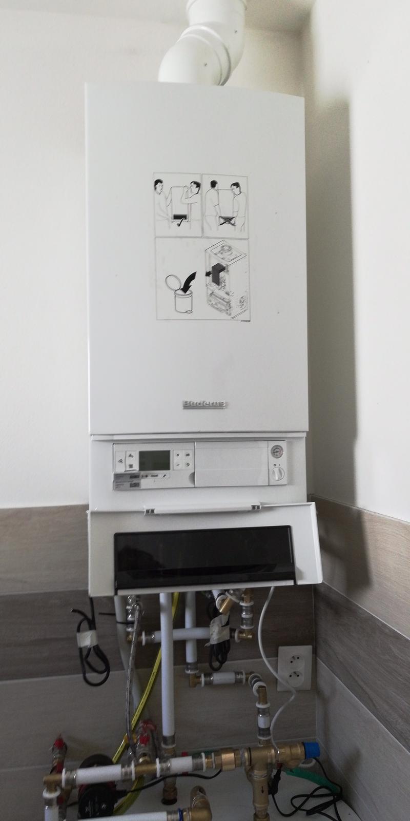 Montáž kotol Buderus GB172-14+120L zásobník - kotol Buderus GB172-14