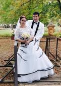 Bielo-cierne svadobne saty 38-42, 40