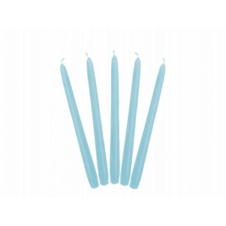 Sviečka kónická modrá/svetlá matná - 24cm - Obrázok č. 1