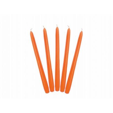 Sviečka kónická oranžová matná - 24cm - Obrázok č. 1