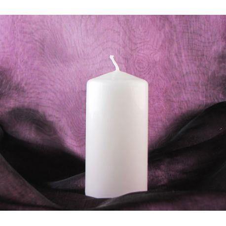 Sviečka valec 60/100 biela matná - Obrázok č. 1