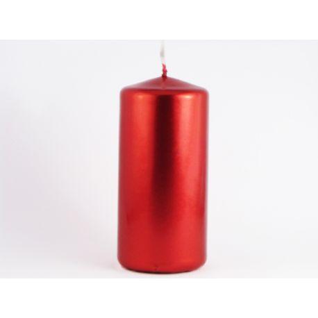 Sviečka valec 50/100 červená metalická - Obrázok č. 1