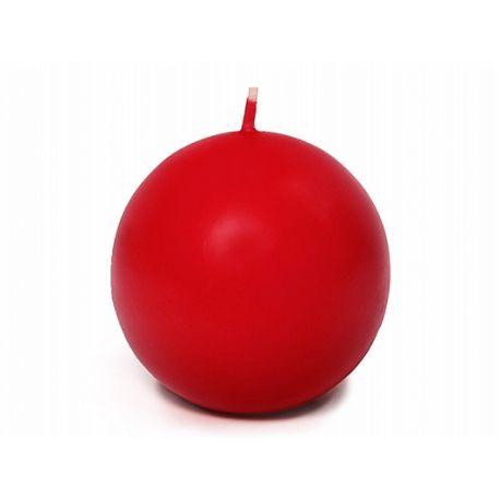 Sviečka guľa červená matná - Obrázok č. 1