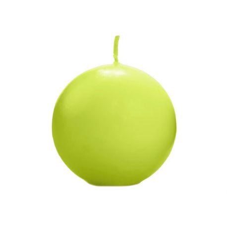 Sviečka guľa zelená/jablko matná - Obrázok č. 1