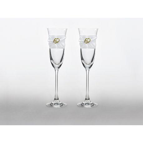 Svadobné poháre na šampanské - Obrázok č. 1