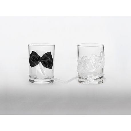 Svadobné poháriky čierna - biela - Obrázok č. 1