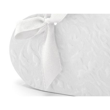 Krabička na darčeky pre hostí srdce - biela farba - Obrázok č. 2