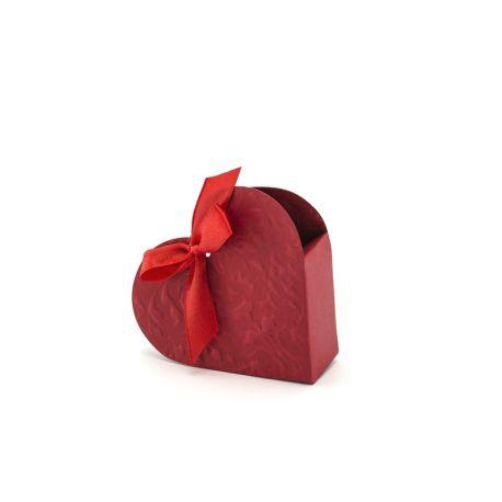 Krabička na darčeky pre hostí srdce - bordová farb - Obrázok č. 1
