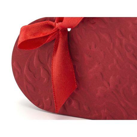 Krabička na darčeky pre hostí srdce - bordová farb - Obrázok č. 2