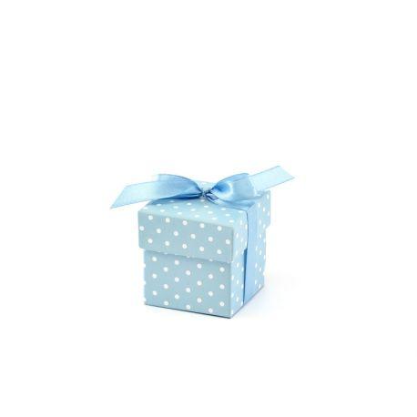 Krabička s bodkami na darčeky pre hostí - modrá  - Obrázok č. 1