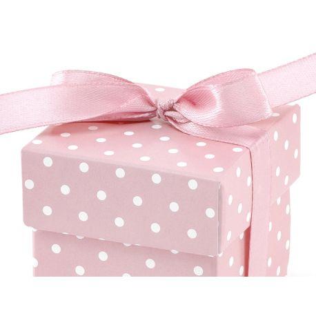 Krabička s bodkami na darčeky pre hostí - ružová - Obrázok č. 2