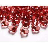 Srdcia 21mm červené,