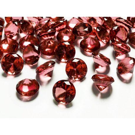 Červené diamanty 20mm  - Obrázok č. 1