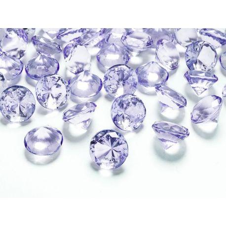Diamanty 20mm fialové - Obrázok č. 1