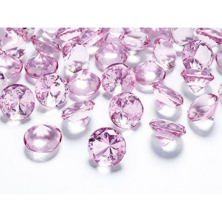 Diamanty 20mm ružové/svetlé - Obrázok č. 1