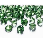 Diamanty 20mm zelené,
