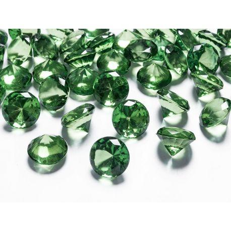 Diamanty 20mm zelené - Obrázok č. 1