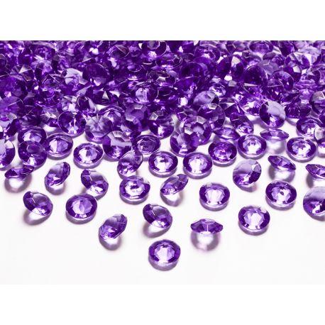 Fialové diamanty 12mm  - Obrázok č. 1