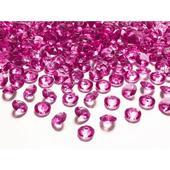 Fuchsiové diamanty 12mm ,