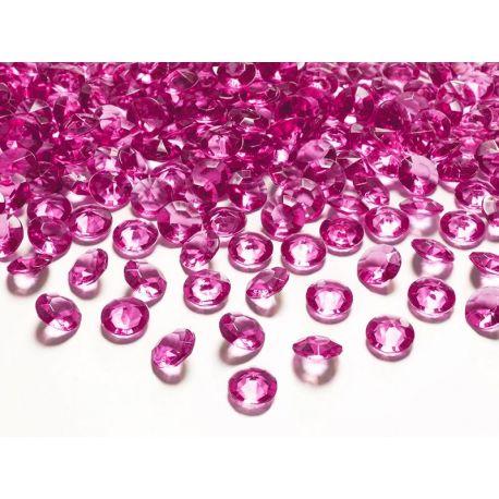 Fuchsiové diamanty 12mm  - Obrázok č. 1