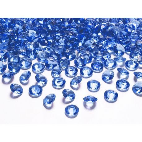 Modré diamanty 12mm  - Obrázok č. 1