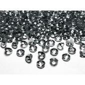Sivé diamanty 12mm ,