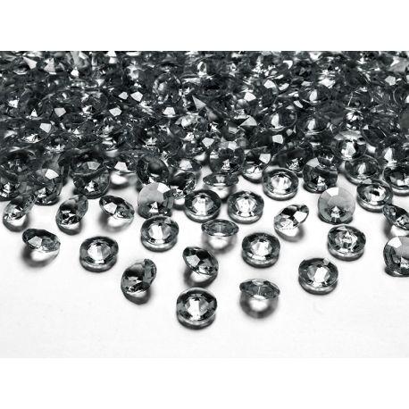 Sivé diamanty 12mm  - Obrázok č. 1