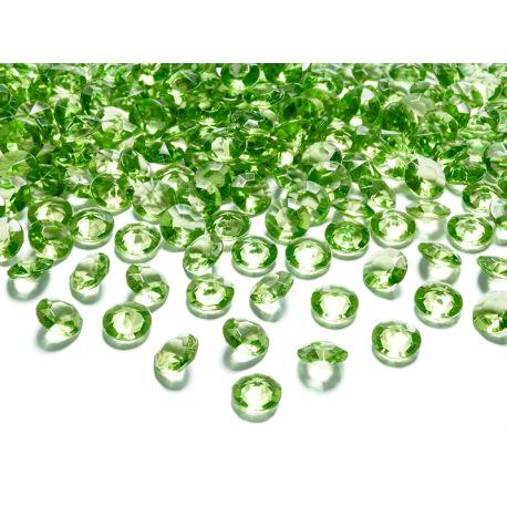 Zelené diamanty 12mm  - Obrázok č. 1