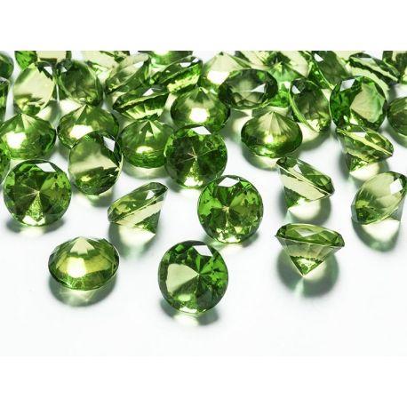 Zelené diamanty 20mm  - Obrázok č. 1