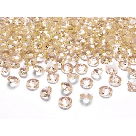 Zlaté diamanty 12mm  - Obrázok č. 1