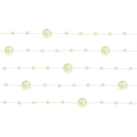 Girlanda perlová 1,3m krémová - Obrázok č. 1