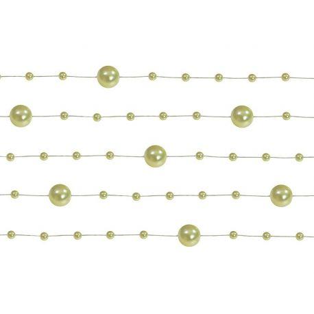 Girlanda perlová 1,3m olivová - Obrázok č. 1