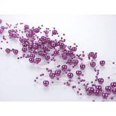 Girlanda perlová 1,3m tmavo fialová,