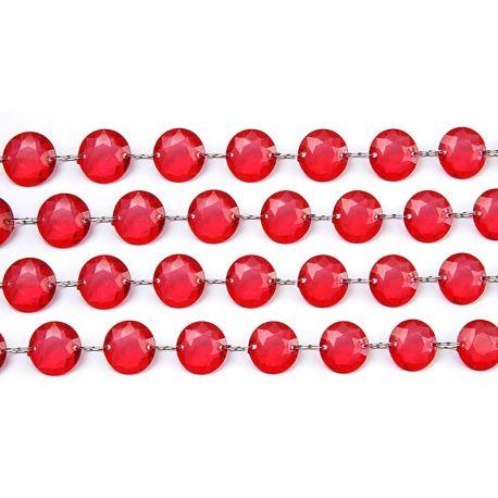 Girlanda kryštálová 1m červená - Obrázok č. 1