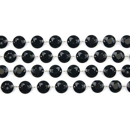 Girlanda kryštálová 1m čierna - Obrázok č. 1