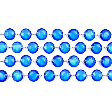 Girlanda kryštálová 1m modrá - Obrázok č. 1