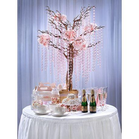 Girlanda kryštálová 1m ružová - Obrázok č. 2