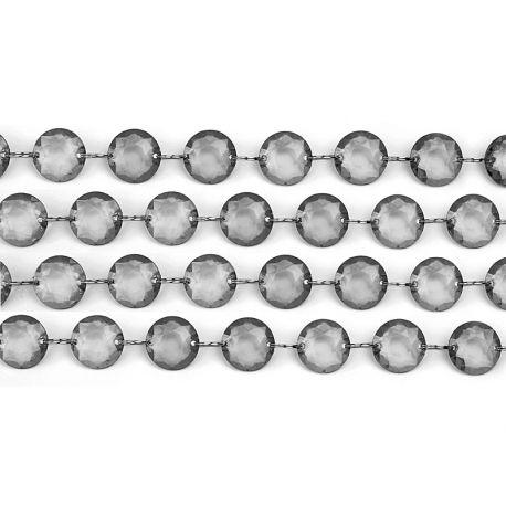 Girlanda kryštálová 1m sivá - Obrázok č. 1