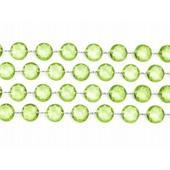Girlanda kryštálová 1m zelená,
