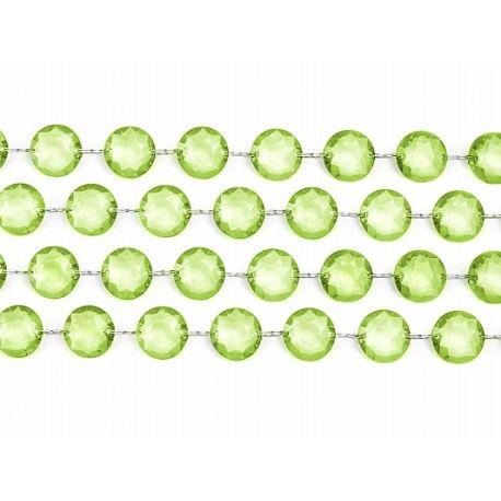 Girlanda kryštálová 1m zelená - Obrázok č. 1