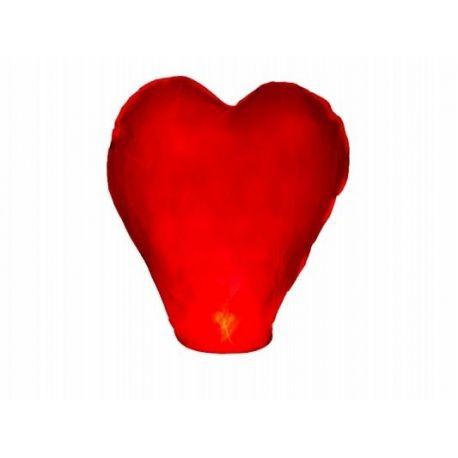 Lietajúci lampión srdce - červená farba - Obrázok č. 1