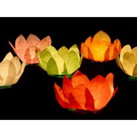 Plávajúce lampióny šťastia - mix farieb - Obrázok č. 1