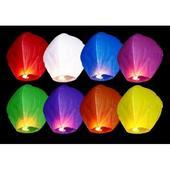 Lietajúce lampióny šťastia - mix farieb,