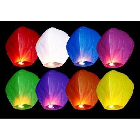 Lietajúce lampióny šťastia - mix farieb - Obrázok č. 1