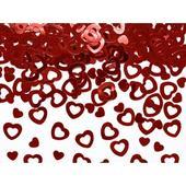 Konfety červené srdcia ,