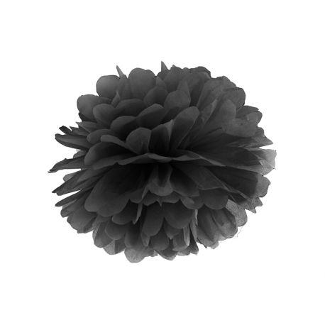 Pom pom čierny - 25cm alebo 35cm - Obrázok č. 1