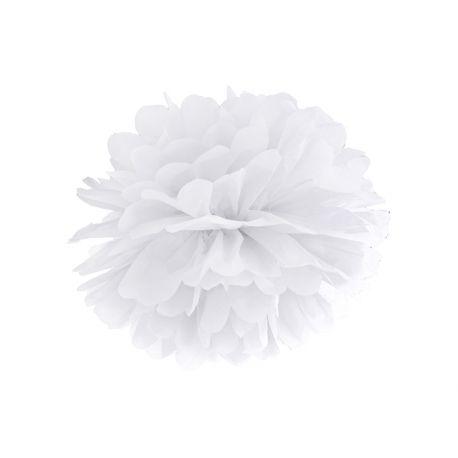 Pom pom biely - 25cm alebo 35cm - Obrázok č. 1