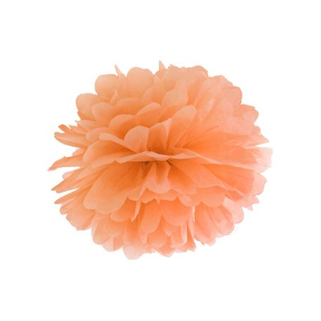 Pom pom oranžový - 25cm alebo 35cm - Obrázok č. 1