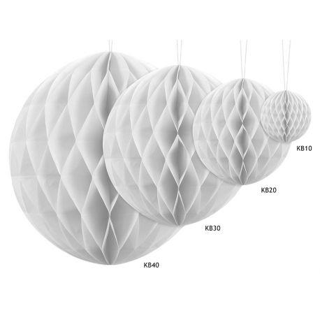 Honeycomb Ball biela - 10cm,20cm a 30cm  - Obrázok č. 2