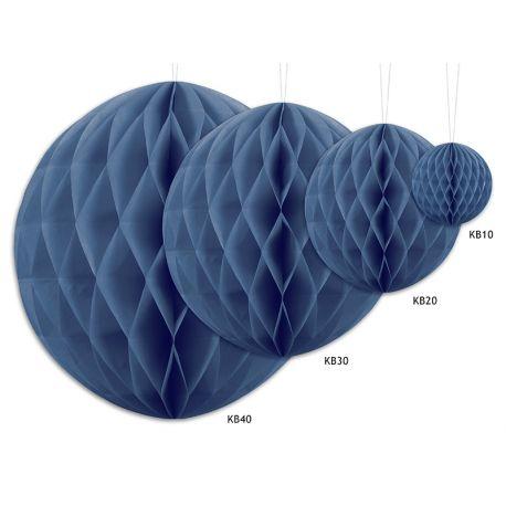 Honeycomb Ball modrá tmavá - 10cm,20cm a 30cm - Obrázok č. 2